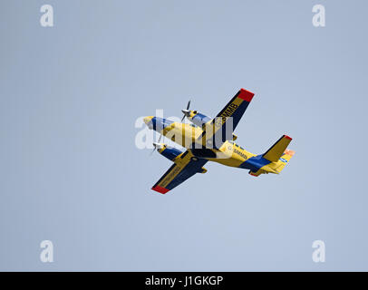 Cessna F.406 Caravan II Environmental and Rural Affairs Department Secretary of State for Scotland. working out - Stock Image
