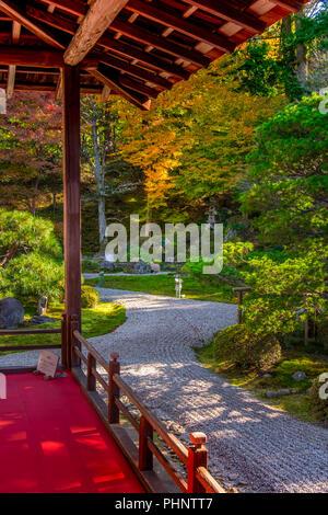 Autumn visit in Manshu-in Temple, Kyoto, Japan - Stock Image