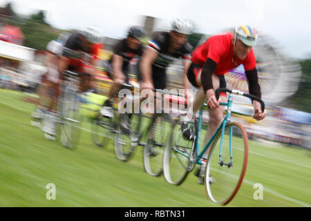 cycle race at Highland Games Scotland - Stock Image