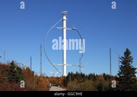 geography / travel, Canada, Québec, Cap-Chat, Éole, wind turbine with vertical axle, Cap-Chat, Additional - Stock Image