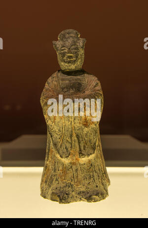 Clay Figure of a Woman. Unified Silla Period. Stone Chamber in an Ancient Tomb, Yonggangdong Gyeongju, North Gyeongsang-do. National Museum of  Korea - Stock Image