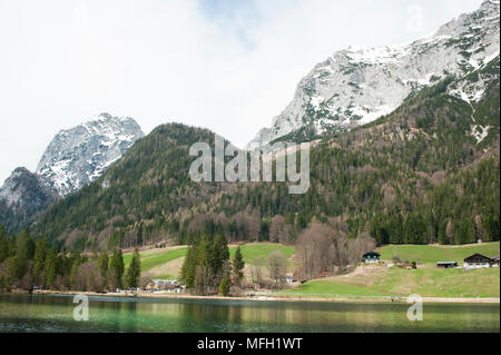 Lake Königssee, Schönau am Königsee district, Berchtesgaden Alps, Bavaria, Germany - Stock Image