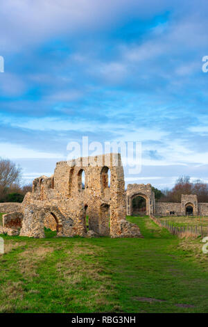 Dunwich Greyfriars Friary, view of the ruins of the former Franciscan friary (built early 13th century) in Dunwich, Suffolk, UK. - Stock Image