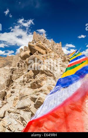 Ruins of Shey palace, near Leh. Ladakh, India - Stock Image