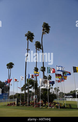 30 March, 2017: scenes from the practive green during the first round of the ANA Inspiration at the Dinah Shore - Stock Image