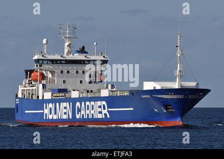 RoRo vessel Shipper inbound Kiel Fjord - Stock Image