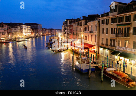 Venice, Italy. View over the Grand canal (Canale Grande). - Stock Image