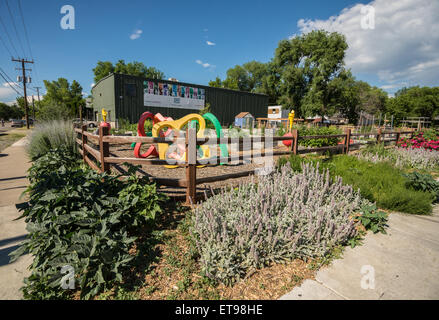 Community Garden - Salt Lake City - Utah - Stock Image
