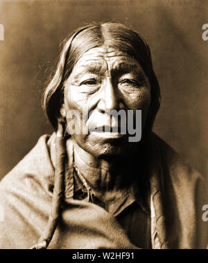 Edward S. Curtis Native American Indians - Male Cheyenne Indian ca. 1910 - Stock Image