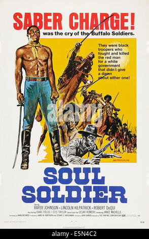 SOUL SOLDIER, (aka THE RED, WHITE, AND BLACK), US poster art, 1970. - Stock Image