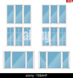 Set of PVC windows - Stock Image