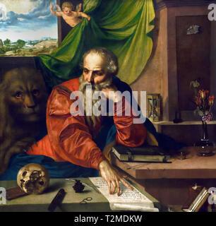 Saint Jerome Meditating 1548 Georg Pencz  1500-1550 German Germany - Stock Image