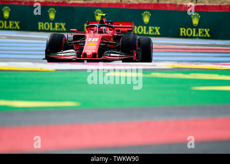 Marseille, France. 21st June 2019, Circuit Automobile Paul Ricard, Le Castellet, Marseille, France ; FIA Formula 1 Grand Prix of France, practise sessions; Charles Leclerc of the Ferrari Team in action during free practice 1 Credit: Action Plus Sports Images/Alamy Live News - Stock Image