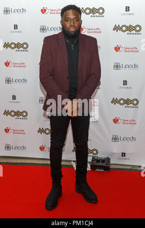 Musician and producer Juls (real name Julian Nicco-Annan) on the red carpet at the 2017 MOBO Awards. - Stock Image