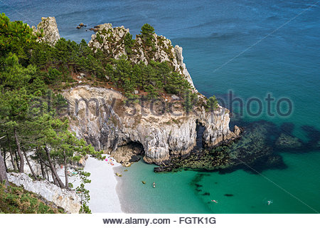 Crozon in Brittany (France) - Stock Image