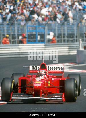 1997 Michael Schumacher German Ferrari F310B Monaco GP 1st - Stock Image