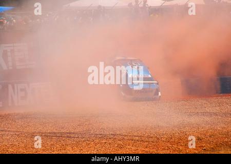 Brazilian Nextel Stock car Cup Car Accident, Nelson Piquet Autodrome, Brasilia Brazil - Stock Image