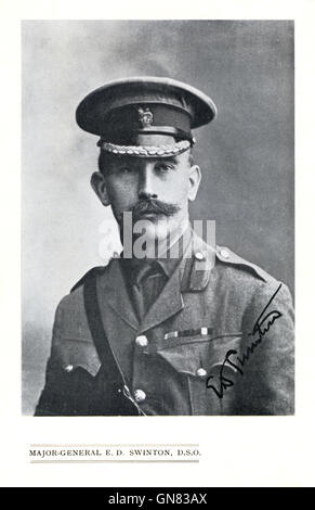 Major-General ED Swinton, in charge of training the first British tank units in the Great War and developing initial - Stock Image