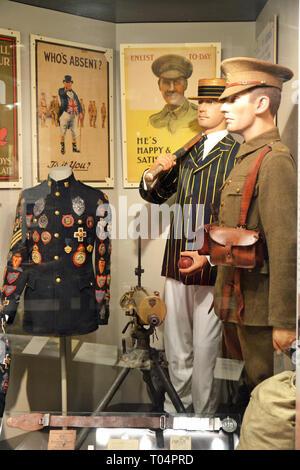 Essex Regiment Museum, Oaklands House, Chelmsford, Essex, UK - Stock Image