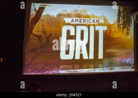 Merrick, New York, USA. 11th June 2017.  In backyard of 'American Grit' contestant Chris Edom, the American - Stock Image