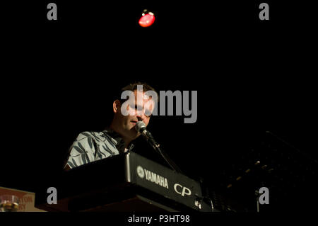 Comedian and author Adam Kay live at the 2018 Stoke Newington Literary Festival in Hackney, East London - Stock Image