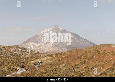 Mount Teide tenerife volcano mountain highest peak in spain canary islands isles canaries volcanic - Stock Image