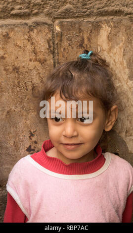young girl, old city, Cairo, Egypt - Stock Image
