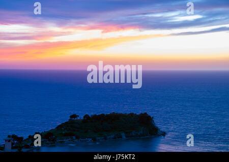 Pigeon Island Castle during Sunset in Kusadasi,Turkey - Stock Image