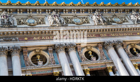 paris opera, opera garnier, facade - Stock Image