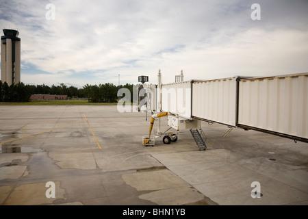 A vacant gate at Savannah-Hilton Head Airport, Georgia, USA - Stock Image