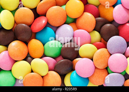 Colourful Chocolate Candy Sweets - Stock Image