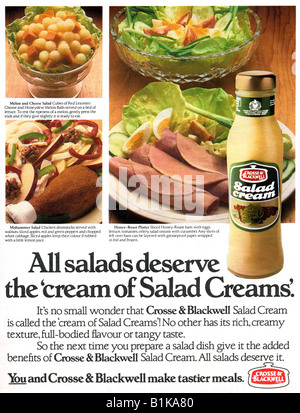 1980 advertisement for Crosse & Blackwell Salad Cream FOR EDITORIAL USE ONLY - Stock Image