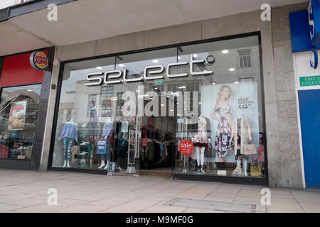High Street fashion store Select, Commercial Road, Portsmouth, Hampshire, UK - Stock Image