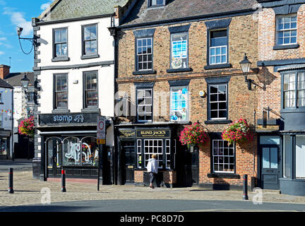 Blind Jack's pub in the Market Place, Knaresborough, North Yorkshire, England UK - Stock Image