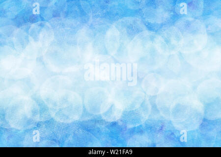 Pastel color summer blue sky abstract or natural watercolor paint background - Stock Image