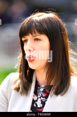 Bridget Phillipson MP (Labour: Houghton and Sunderland South) interviewed on College Green, Westminster, April 11 2019 - Stock Image