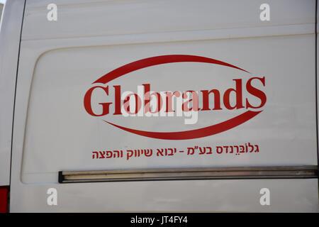 GlobrandS van in israel - Stock Image