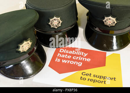 Lurgan, Northern Ireland. 19/10/2018 - Leonard Cheshire Disability hold an education session during Hate Crime Awareness Week. - Stock Image