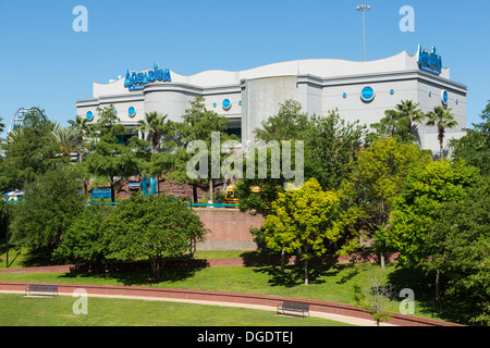 Houston downtown aquarium Texas - Stock Image