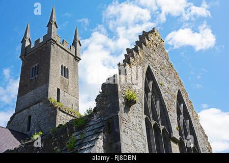 Irland, Klosterruine Ennis Friary in Ennis - Stock Image