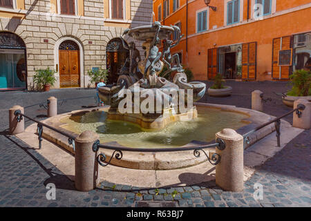 Turtle Fountain, Rome, Italy - Stock Image