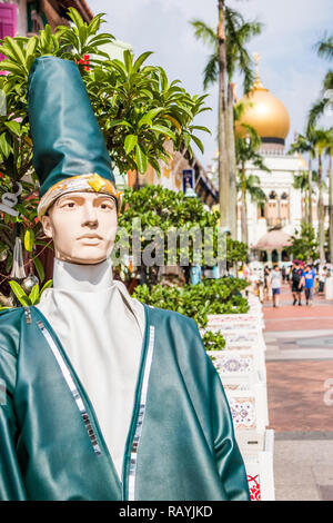 Singapore - 22nd December 2018: Whirling Dervish model on Arab Street, This is in the Kampong Glam area - Stock Image