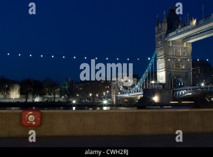 Tower Bridge by Night - Stock Image