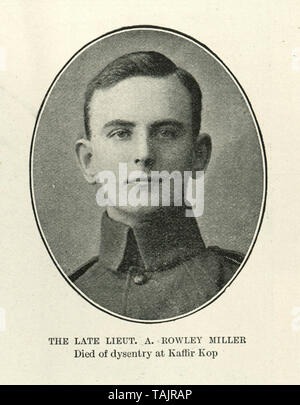 Lieutenant A Rowley Miller died of dysentry at Kaffir Kop, 1902 - Stock Image