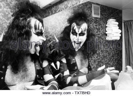 Gene Simmons of Kiss 10-1978 Credit: 356919_Globe Photos/MediaPunch - Stock Image