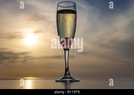 Bubbles at sunset - Stock Image