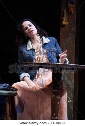 Sweat by Lynn Nottage, A Donmar Warehouse Production directed by Lynette Linton.With Leanne Best as Jessie. Opens at The Gieilgud Theatre on 12/6/19 pic Geraint Lewis EDITORIAL USE ONLY - Stock Image