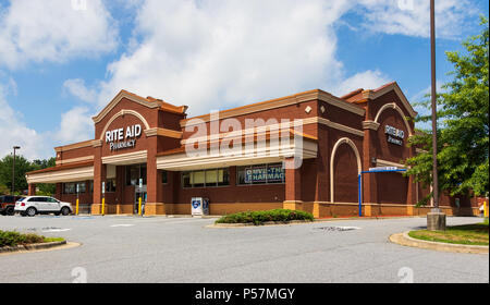 HICKORY, NC, USA-22 JUNE 18:  Rite-Aid Corporation is the largest drugstore chain in the US. - Stock Image
