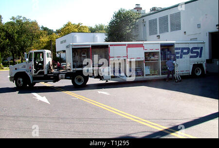 Pepsi truck unloads at the COOP food store in Greenbelt, Md i - Stock Image