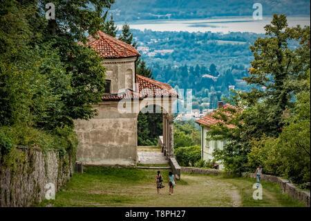 Italy Lombardy Unesco World heritage Site - Sacro Monte di Varese ( Varese sacred Mount ) -  IX chapel - THE CLIMB TO CALVARY - Stock Image
